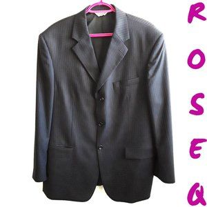 Moores pronto uomo black striped suit jacket